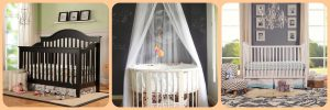 Different types of baby cribs - mini, full-size & oval crib