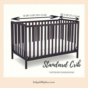 Different types of baby cribs - standard full-size crib
