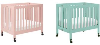 Best Mini Cribs For Small Spaces - Babyletto Origami Mini Crib in pet