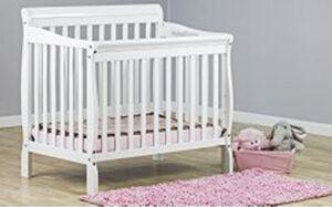 Best Cribs For Short Moms Dream On Me Aden 4-in-1 Convertible Mini Crib
