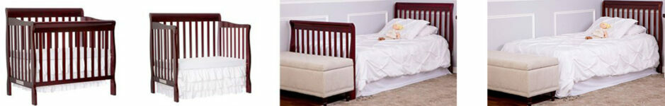 Best Cribs For Short Moms Dream On Me Aden 4-in-1 Convertible Mini Crib
