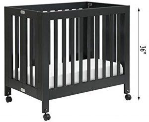 Best Cribs For Short Moms Babyletto Origami mini portable crib