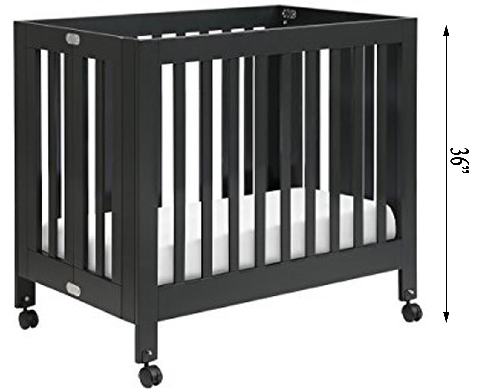 best cribs for short moms babyletto origami mini portable crib baby 39 s little place. Black Bedroom Furniture Sets. Home Design Ideas