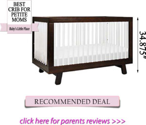 Best cribs for short moms: Babyletto Hudson 3-in-1 convertible crib