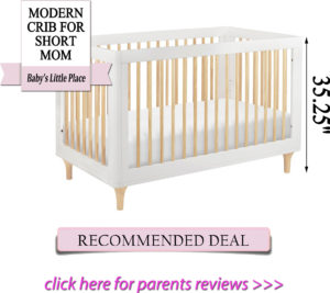Best cribs for short moms: Babyletto Lolly 3-in-1 convertible crib