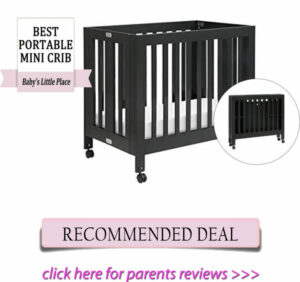 Best mini cribs for small spaces - Babyletto Origami portable crib