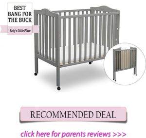 Best affordable mini portable crib - Delta Children mini baby crib