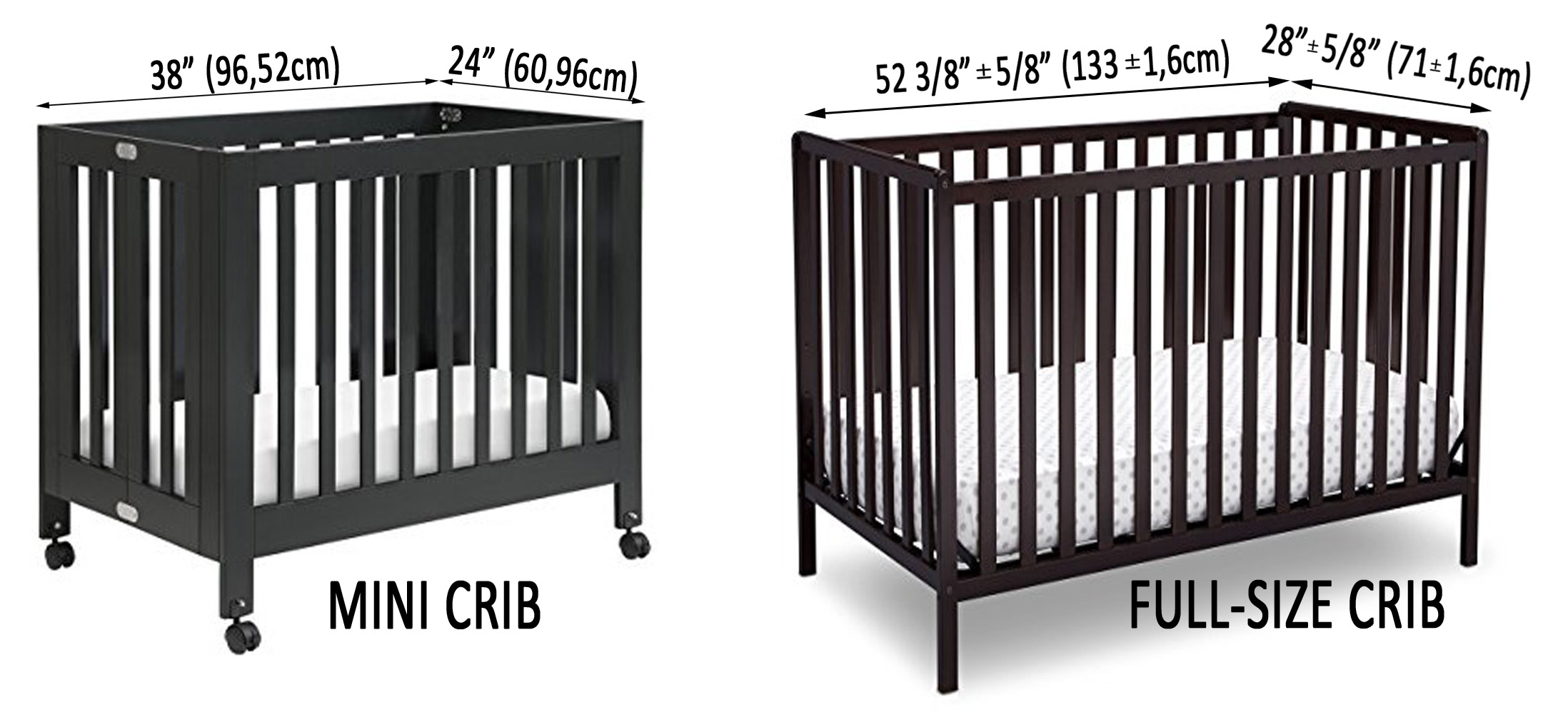 Mini Crib Vs Standard Crib What Is The Difference In Size