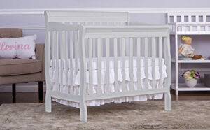 Best Mini Cribs For Small Spaces - dream me aden 4 1 convertible mini crib white