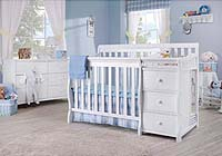 Mini crib with changing table - Sorelle Newport mini 2-in-1 convertible crib with changing table