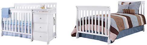 Review Of Sorelle Newport Mini 2-in-1 Convertible Crib With Changer - white