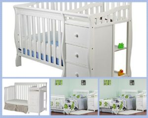 Min convertiblei crib with changing table