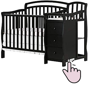 Best mini crib with changing table - Dream On Me Casco 3-in-1 mini convertible crib with changer