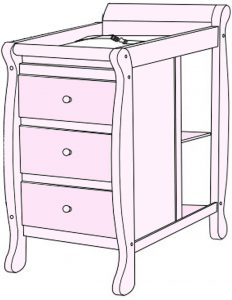 What is a convertible baby crib with changing table_attached changer