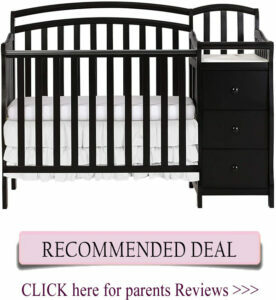 Dream On Me Casco mini crib with changing table