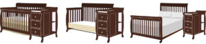 What is a mini convertible crib with changing table?