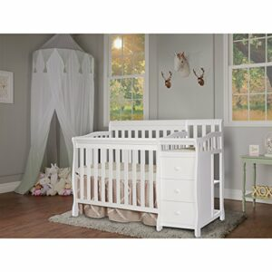 Mini crib with changing table - Dream On Me Jayden 4-in-1 convertible crib with changing table