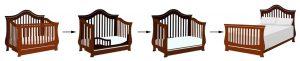 Standard size baby crib - convertible crib