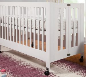Best Full Size Portable Folding Baby Cribs On Wheels - Babyletto Maki white