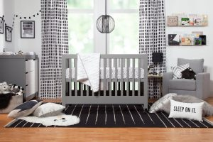 Best Full Size Portable Folding Baby Cribs On Wheels - Babyletto Maki gray