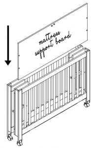 Best Full Size Portable Folding Baby Cribs On Wheels - Babyletto Maki mattress support base