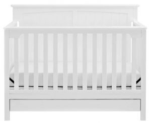 Best Cribs with Storage - Stork Craft Devenport convertible crib with drawer underneath