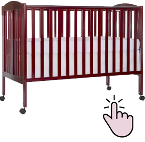 Best affordable full-size folding crib