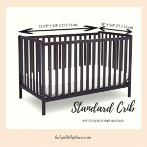 Standard size baby crib - measurements and facts