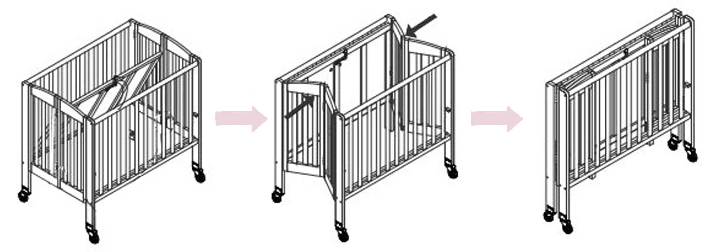 Portable Folding Baby Crib On Wheels Baby S Little Place