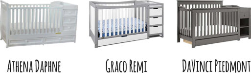 Best 3 Combo Cribs with Under Crib Storage Drawer