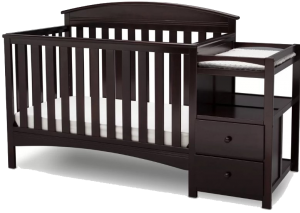 Best Combo Crib with Changer: Delta Children Abby 4-in-1 convertible crib with changing table