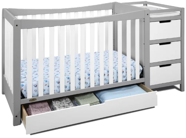 Best Combo Crib With Changer: Graco Remi 4 In 1 Convertible Crib With