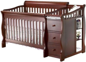 Best Combo Crib with Changer: Sorelle Tuscany 4-in-1 convertible baby crib with changing table