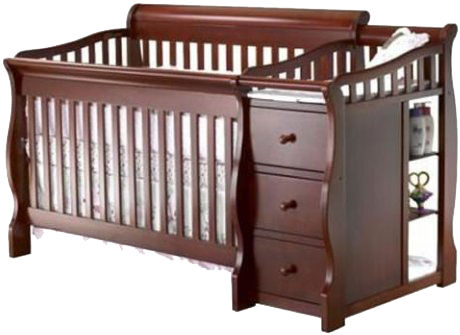 Best Combo Crib With Changer Sorelle Tuscany 4 In 1 Convertible Baby