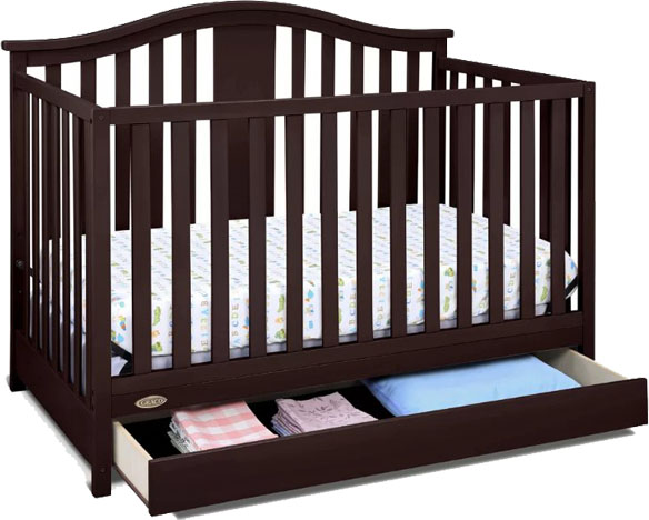 toddler bed with drawers underneath 7 best cribs with storage underneath amp reviews 19965