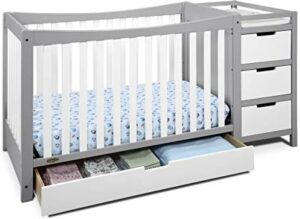 Combo Cribs with Under Crib Storage Drawer: Graco Remi 4 in 1 convertible crib and changer
