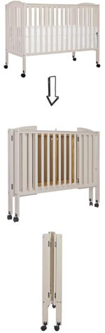 The best baby cribs of 2018 - best baby cribs to buy: Dream On Me portable full-size, folding crib on wheels