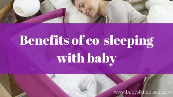 Benefits of co-sleeping with baby