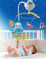 Vtech Soothing Ocean Slumbers Mobile: cry, voice-activated mobile