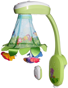 Best baby mobiles with remote control: Fisher-Price Rainforest Grow with me Projection mobile