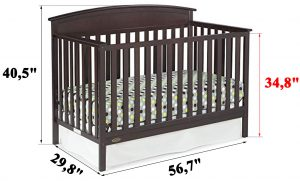 Graco Benton 5-in-1 convertible crib measurements