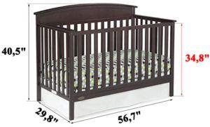 Graco Benton 4-in-1 Convertible Crib REVIEW - measurements
