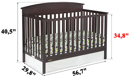 Graco Benton 4-in-1 Convertible Crib REVIEW - measurements