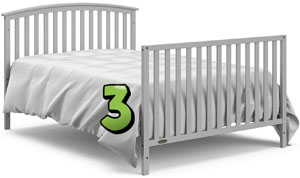 Graco Freeport Convertible Crib REVIEW - full bed