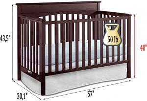 Graco Lauren crib Review - dimensions