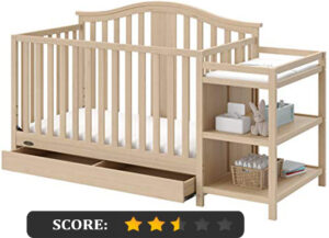 Graco crib reviews: Solano 4-in-1 convertible crib and changer with drawer