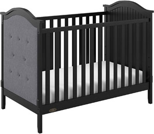 Best Graco crib - Linden upholstered crib