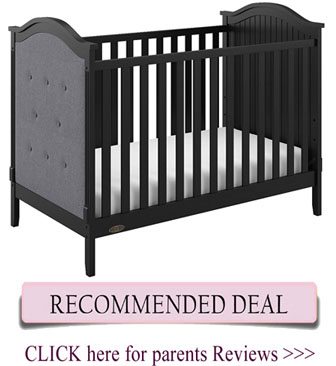 Best Graco crib - Linden upholstered 3-in-1 convertible crib