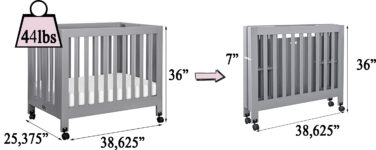 babyletto Origami Mini Portable Crib & Reviews   Wayfair   150x376