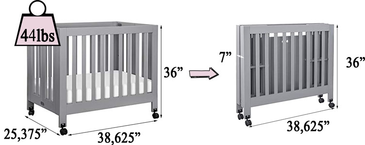 Babyletto Origami portable mini crib review - specifications